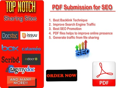 Manually PDF Submission to 40 document sharing sites