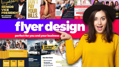 Design the perfect flyer or brochure for your business