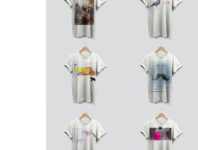 Design a set of six t-shirts