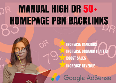 Create manually 6 high DR 50+ Homepage PBN Back-links for $50