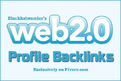 Create over 150 web 2.0 profile backlinks on high page rank site