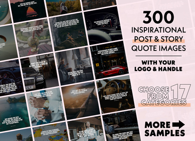 Deliver 300 Inspirational Quotes On Any Topic for Social Media