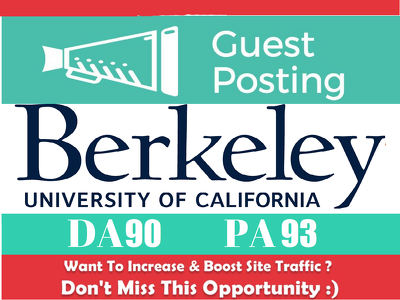 Publish a guest post on Berkeley - Berkeley. edu
