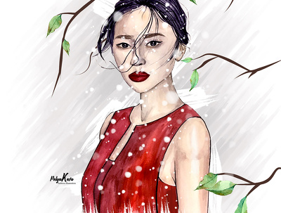 I'll draw a fashion portrait
