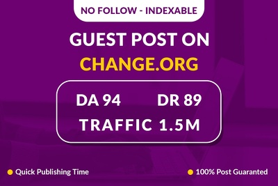 Provide Guest Post on Change.org