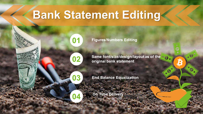 Adjust Bank Statement of Any Bank