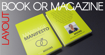 Design book or magazine layout