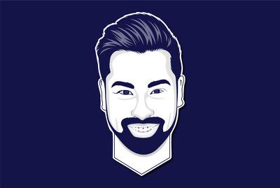 Draw minimalist flat line vector avatar, portrait for you