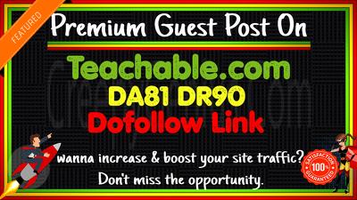 guest Post on Teachable. com DA81 DR90