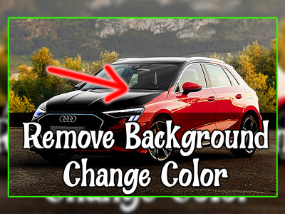 Remove background from 10 photos or change object colors