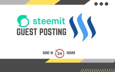 Publish 3 SEO articles with backlinks on Steemit