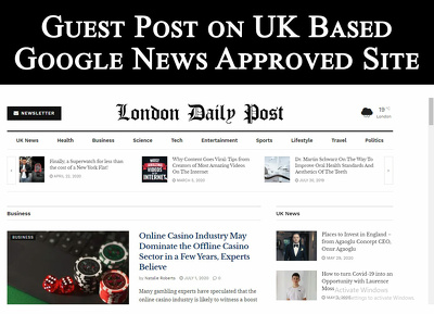 Write and Publish Guest Post on UK Google News Approved Site