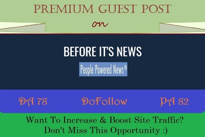 place Guest Post on News Blog BeforeItsNews.com -DR 77, DOFOLLOW