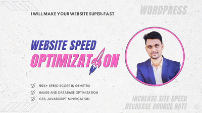 Do website speed optimization, wordpress store speed fast