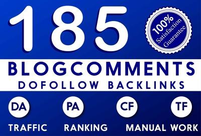 Do manual 185 dofollow backlinks on high pa da and cf tf
