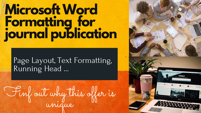 Format Microsoft Word document for target journal publication