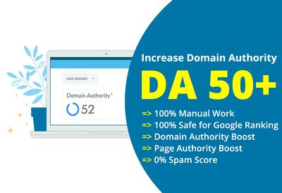 Increase your Domain Authority (DA 50+) guaranteed