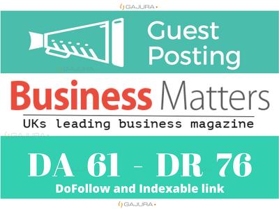 Guest Post on Bmmagazine.co.uk – Bmmagazine DA 61