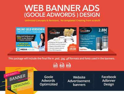 Design a outstanding and creative banner for your website.