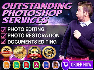 Do photo manipulation, restoration and any photoshop services
