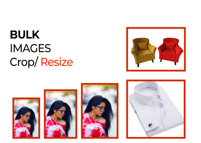 Bulk images / pictures resize and crop within 1 day 100 images