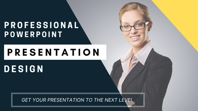 Design professional and modern powerpoint or pdf presentation