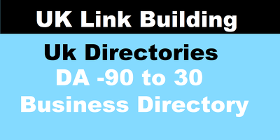 Add your business to 99 uk directories, top  uk link building