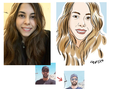 Create an illustrated portrait from a photo
