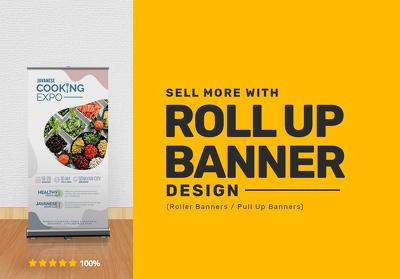 Design Pull Up / Roller Banner (Custom Roll Up Banner)