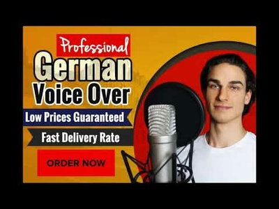 Deliver German Male Voice Over up to 250 words