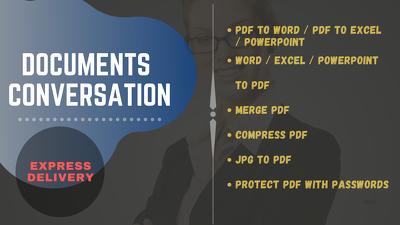 Convert PDF to Word, PDF to Excel,PDF to Powerpoint,PDF to JPG