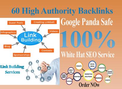 Create 60 high quality SEO backlinks Off-Page SEO link building