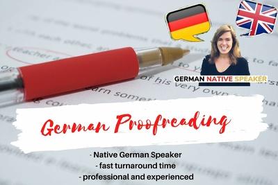 Proofread / co-edit your german manuscript, ebook or novel
