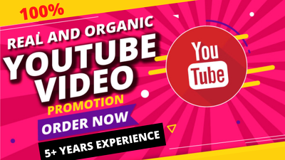 provide Organic YouTube Video Promotion