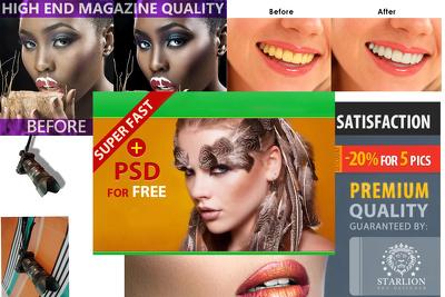 Retouch/edit color balance Professionally  30 images photoshop