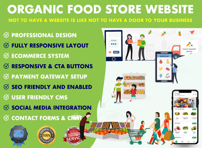 Organic Food Store, Grocery Shop eCommerce Website Design