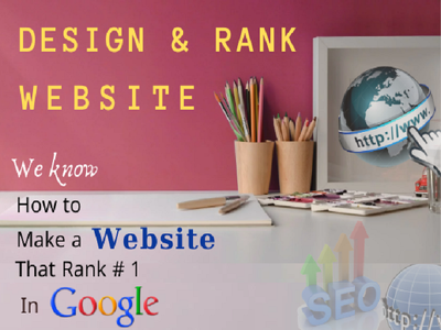 Design and develop your 3 pages website with a high SEO ranking
