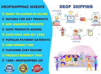 Dropshipping Website Design For Drop Shipping Business