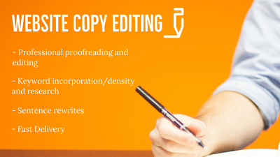 Edit your website copy (up to 1000 words)