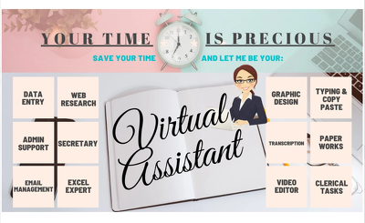 Become your Personal or Virtual Assistant for 2 Hours