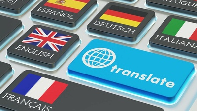 Translate a 500 word document from and to FR EN DE RU