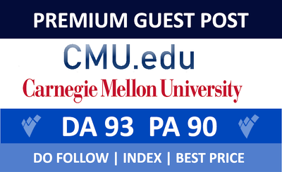 Premium guest post on CMU.edu With Dofollow Backlink