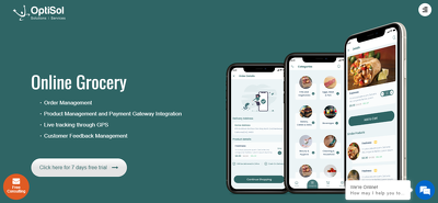On demand grocery and food delivery mobile application