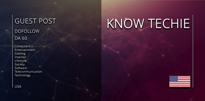 Get your article on - KNOW TECHIE (knowtechie.com)