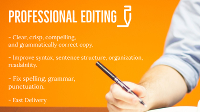 Edit and proofread your work (up to 1000 words)