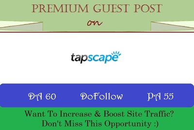 write & Publish Guest Post on Tapscape.com - DR 65
