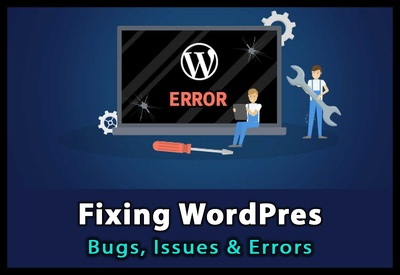 Fix your wordpress site and update contents, customize the site