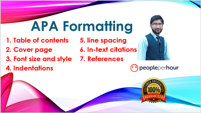Do APA formatting of the given document