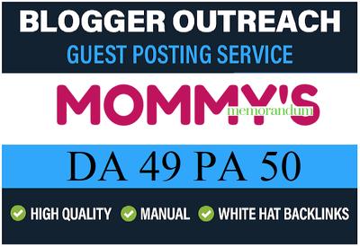 Add HQ Dofollow Guest Post on MommysMemorandum.com - DA51
