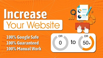 Increase domain rating DR50+ ahrefs domain authority